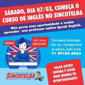 Sincotelba oferece curso de inglês para associados e dependentes