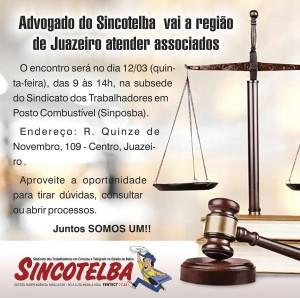 Atendimento jurídico em Juazeiro acontece dia 12