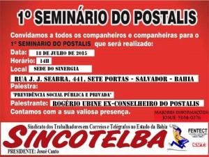 Sincotelba promove I Seminário sobre o Postalis em Salvador