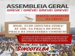 Nova assembleia na noite de hoje 21.09 - Avaliação de Greve