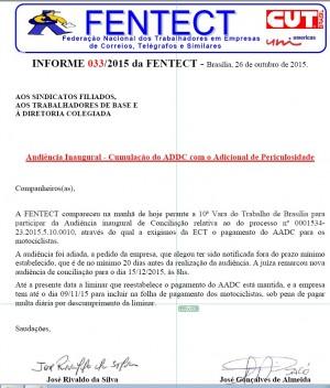 SINCOTELBA informa que a ECT tem até o dia 09/11/2015 para pagar o AADC aos motociclistas