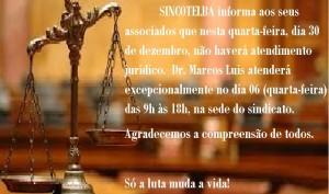 FIQUE ATENTO - ATENDIMENTO JURÍDICO SUSPENSO