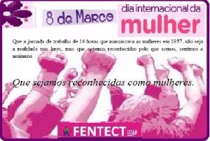 FENTECT homenageia as mulheres trabalhadoras pelo dia Internacional da Mulher
