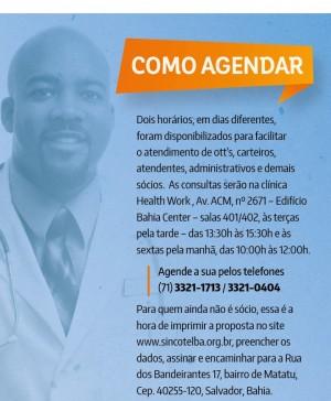 Mais saíde para os ecetistas da Bahia - Médico do trabalho já é realidade para associados do Sincotelba