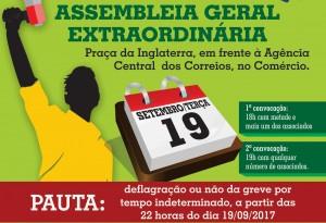 Assembleia para deflagração de greve - Dia 19 na Praça de luta