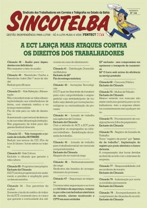 ECT lança mais ataques contra os direitos dos trabalhadores - Confira!