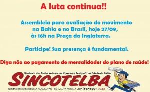 Assembleia para avaliação do movimento na Bahia e no Brasil