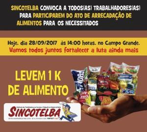 Ato de solidariedade - Doação de Alimentos aos necessitados