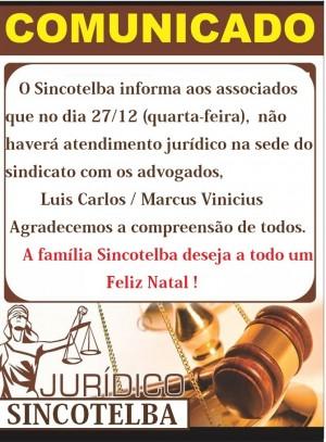 Dia 27 não haverá atendimento jurídico