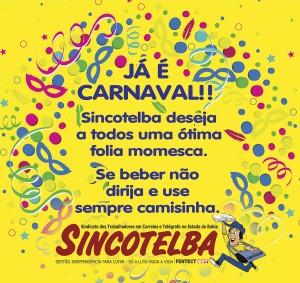 Sincotelba deseja a todos um bom carnaval
