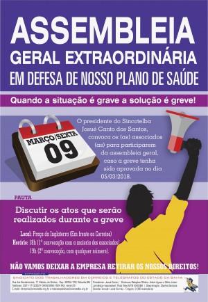 Assembleia geral dia 09 marca o inicio da luta pelo o plano de saúde