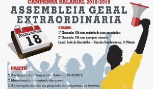ASSEMBLEIA GERAL EXTRAORDINÁRIA  -  Campanha Salarial 2018/2019