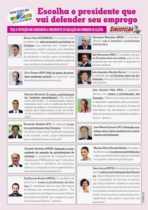 Veja a intenção dos candidatos a presidente em relação aos Correios se eleito: