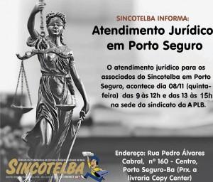 Atendimento jurídico em Porto Seguro acontece dia 08