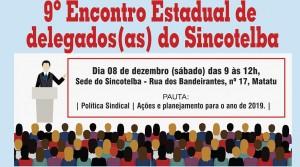 9º Encontro Estadual de delegados(as) do Sincotelba