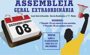 Assembleia geral extraordinária dia 08/12