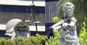 Parte das artes de Mário Cravo são roubadas no prédio dos Correios na Pituba