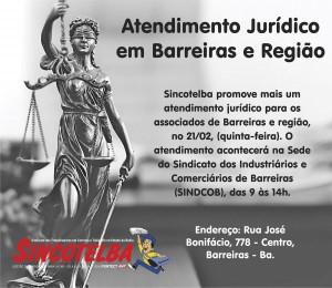 Atendimento jurídico em Barreira e região, dia 21