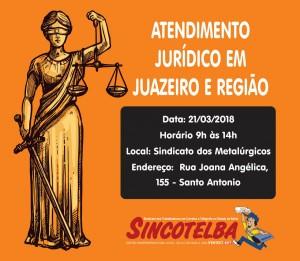 Atendimento Jurídico em Juazeiro e região acontecerá no dia 21