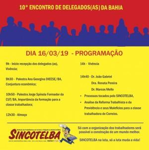 10º Encontro de Delegados Sindicais do Sincotelba é dia 16/03
