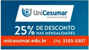 UniCesumar oferece 25% de descontos em cursos para associados do Sincotelba
