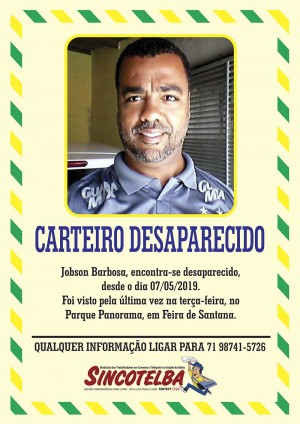 Carteiro Jobson desaparecido