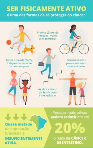 Atividade física e alimentação saudável são grandes aliadas para a prevenção do câncer