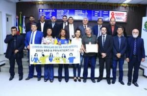 SINCOTELBA recebe moção de apoio em defesa dos Correios na Câmara de vereadores de Teixeira de Freitas