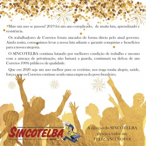 Sincotelba deja um Feliz Ano Novo
